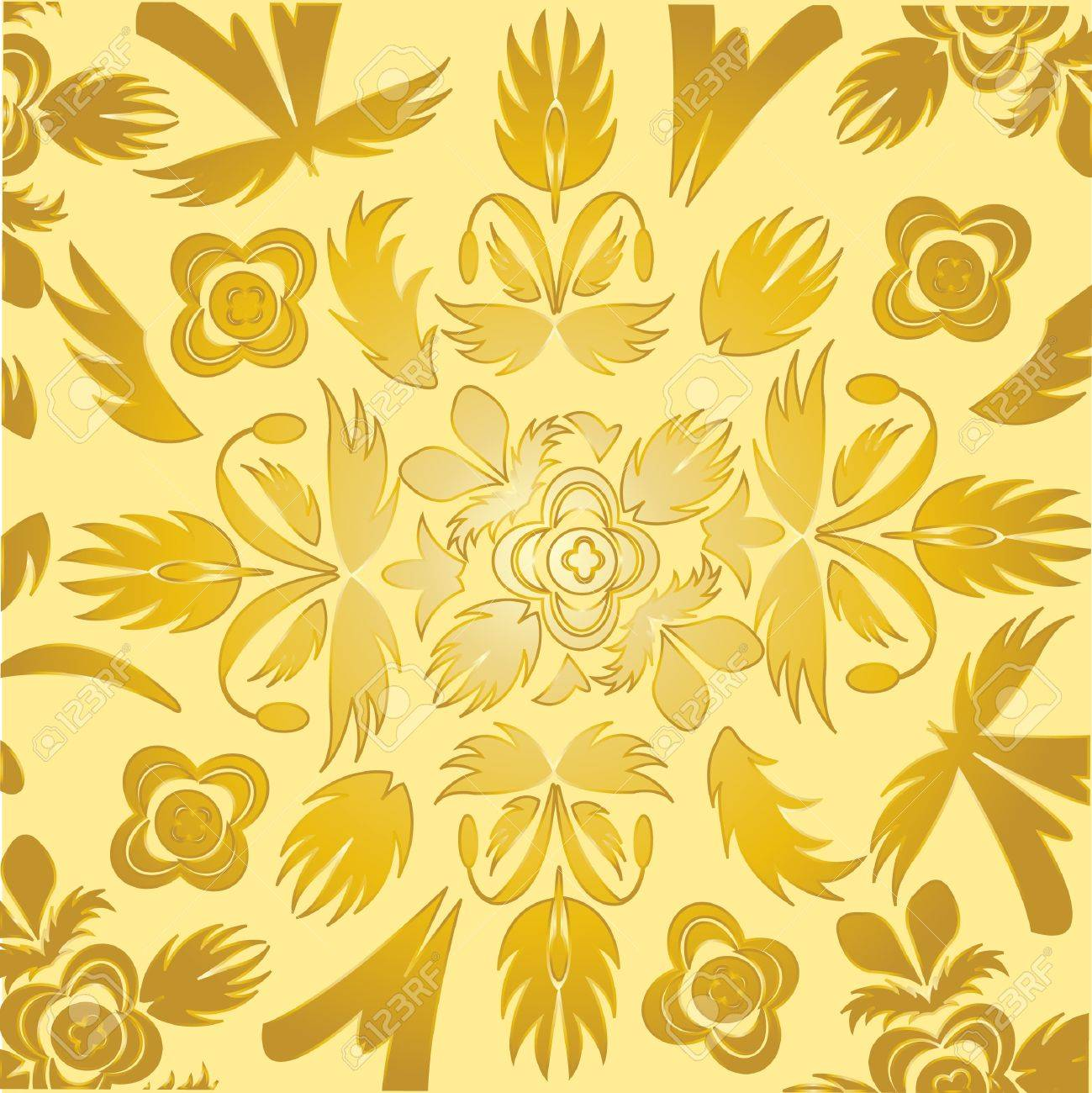 Colorful Decorative Wallpaper Of The Gilded Colour Royalty Free ...