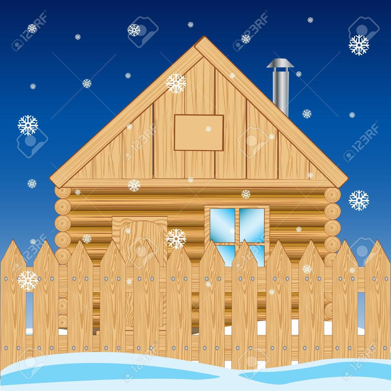 Haus Mit Weißen Lichtern Zu Weihnachten Dekoriert Standard Bild   26573368
