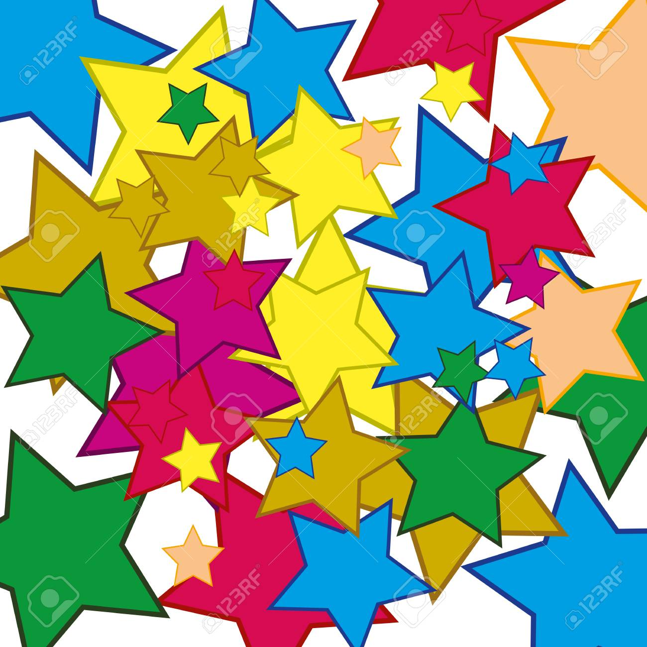 Background from stars of the miscellaneous of the colour stock vector 87526068