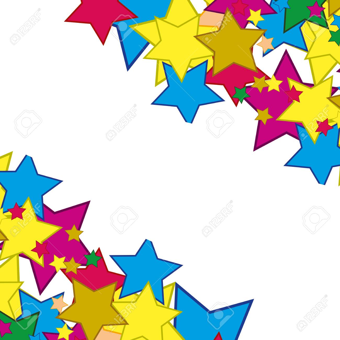 Stars of the miscellaneous of the colour on white background is insulated stock vector 87961924