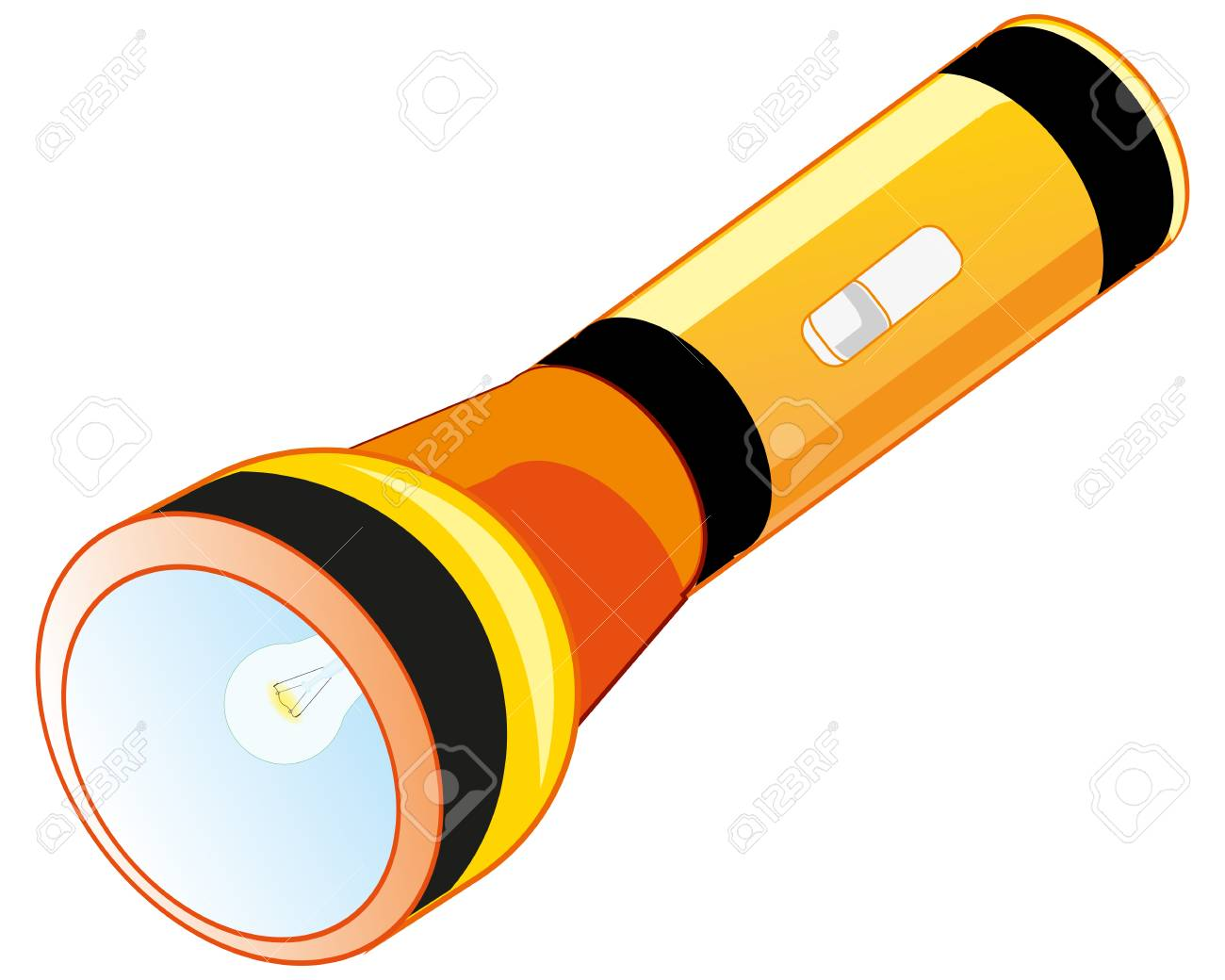 Flash-light On Battery Royalty Free Cliparts, Vectors, And Stock ... for Battery Torch Clipart  545xkb