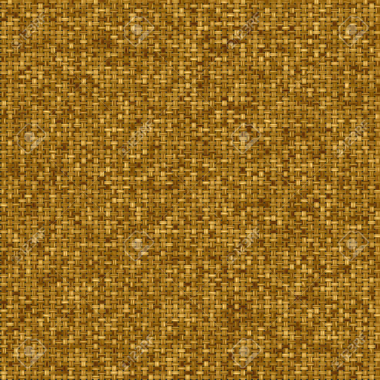 Gold seamless fabric texture pattern