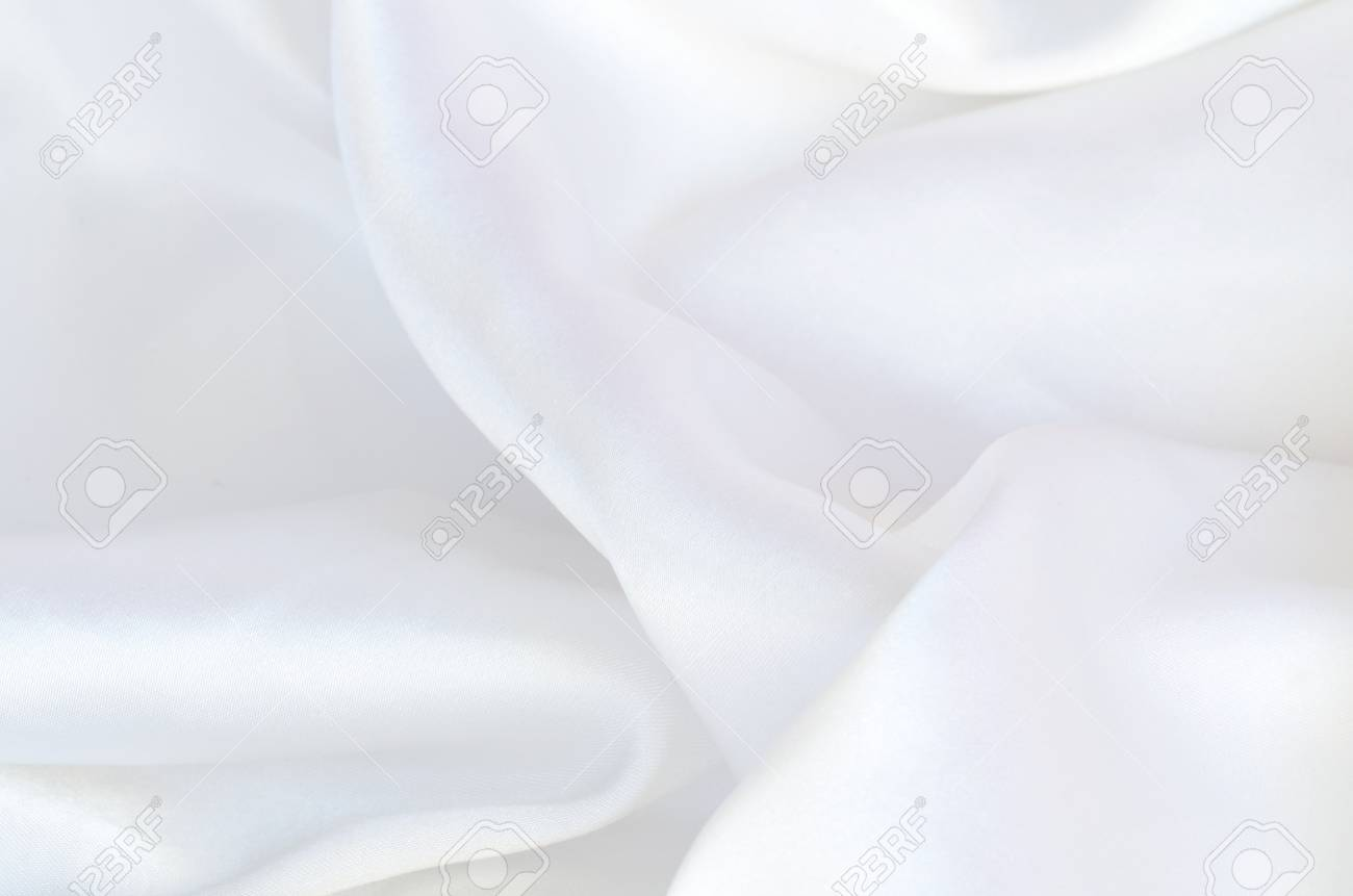 d03671818f1c0 Smooth elegant white silk, satin fabric background texture pattern Stock  Photo - 61917927