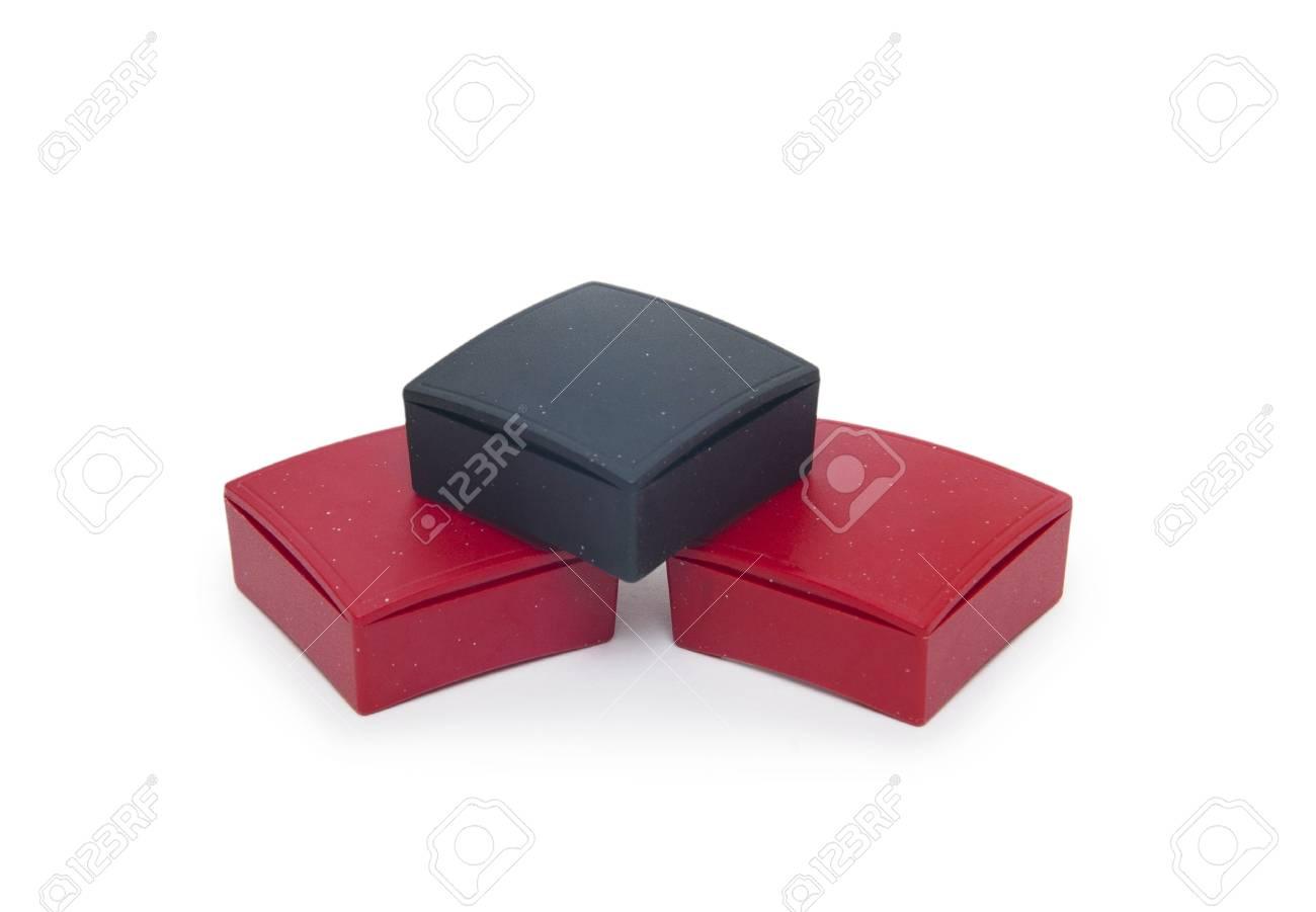 gift boxes isolated on white background Stock Photo - 18416399