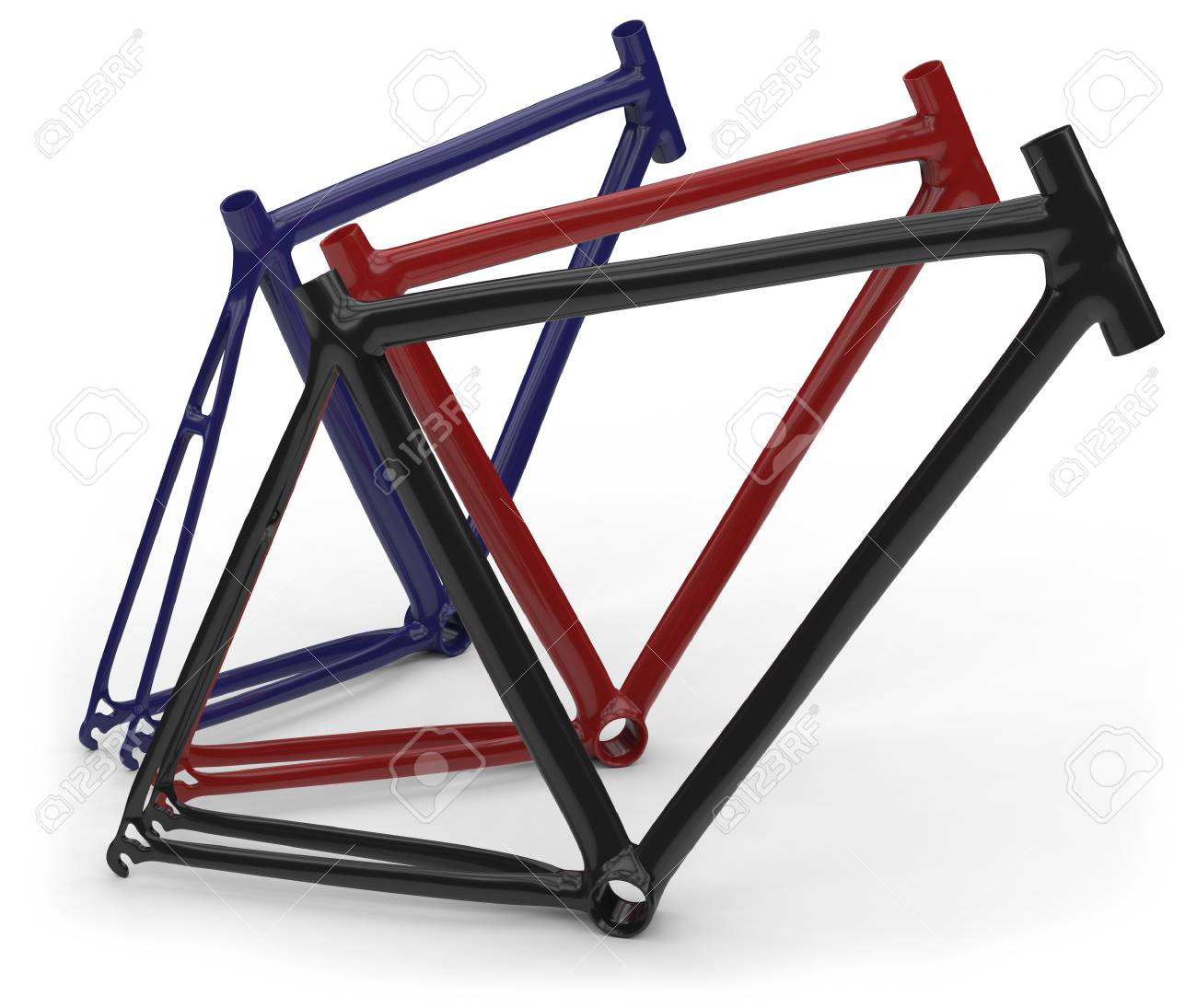Carbon Fiber Bike Frames Isolated On White Stock Photo, Picture And ...