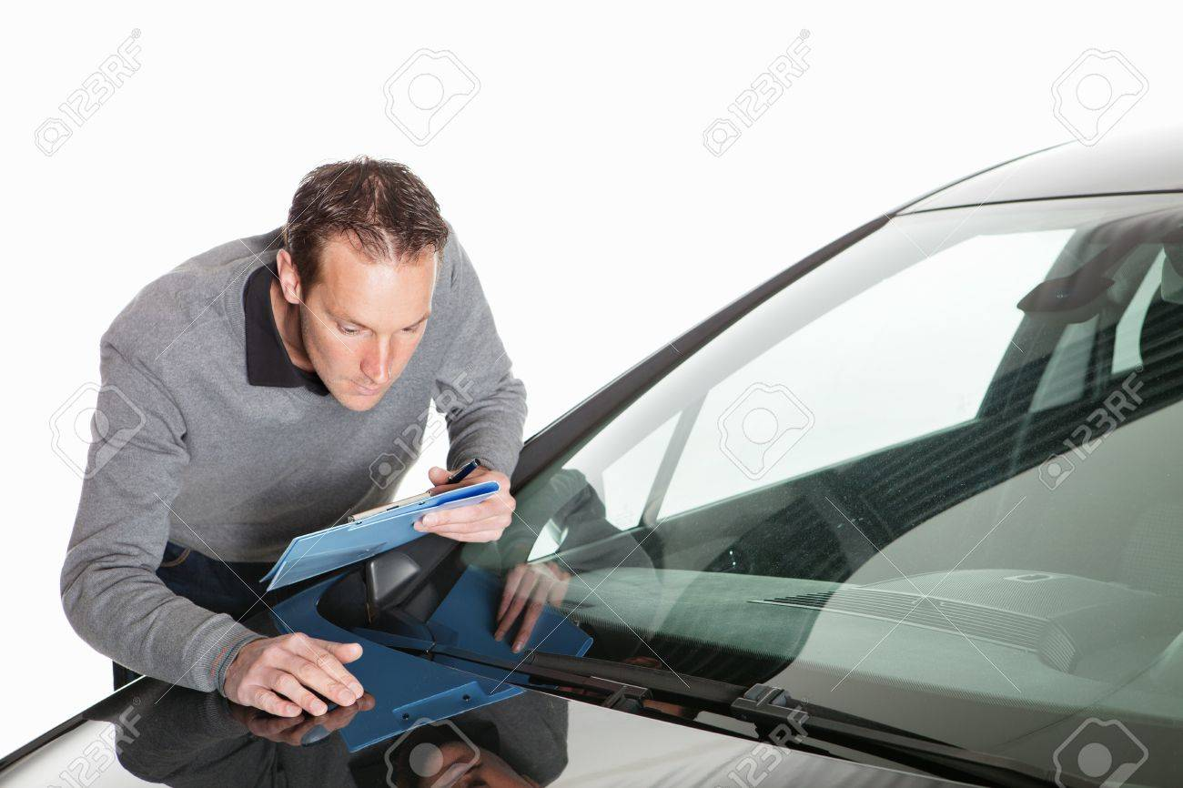 Insurance claim, expert at work Stock Photo - 12048709