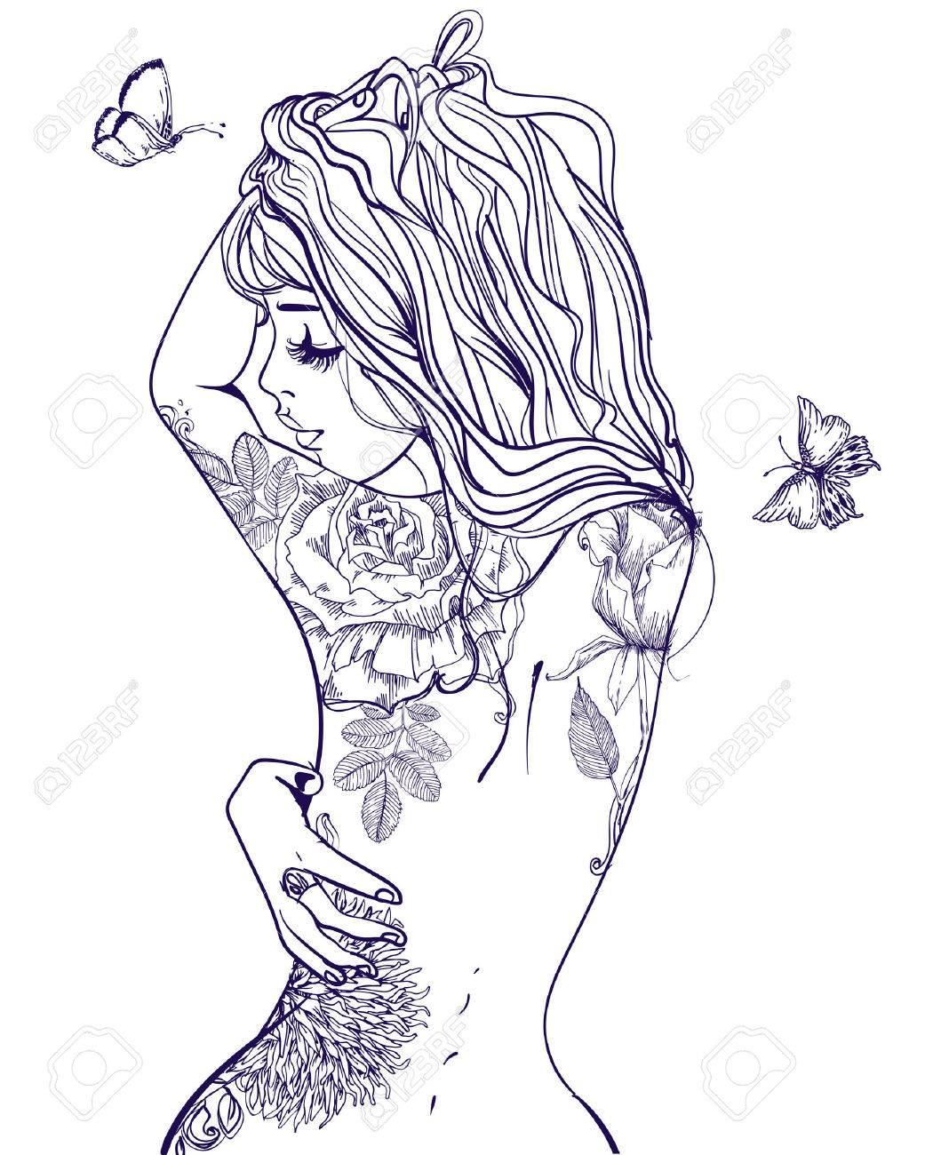 Rücken für schöne frauen tattoos Engel Tattoo