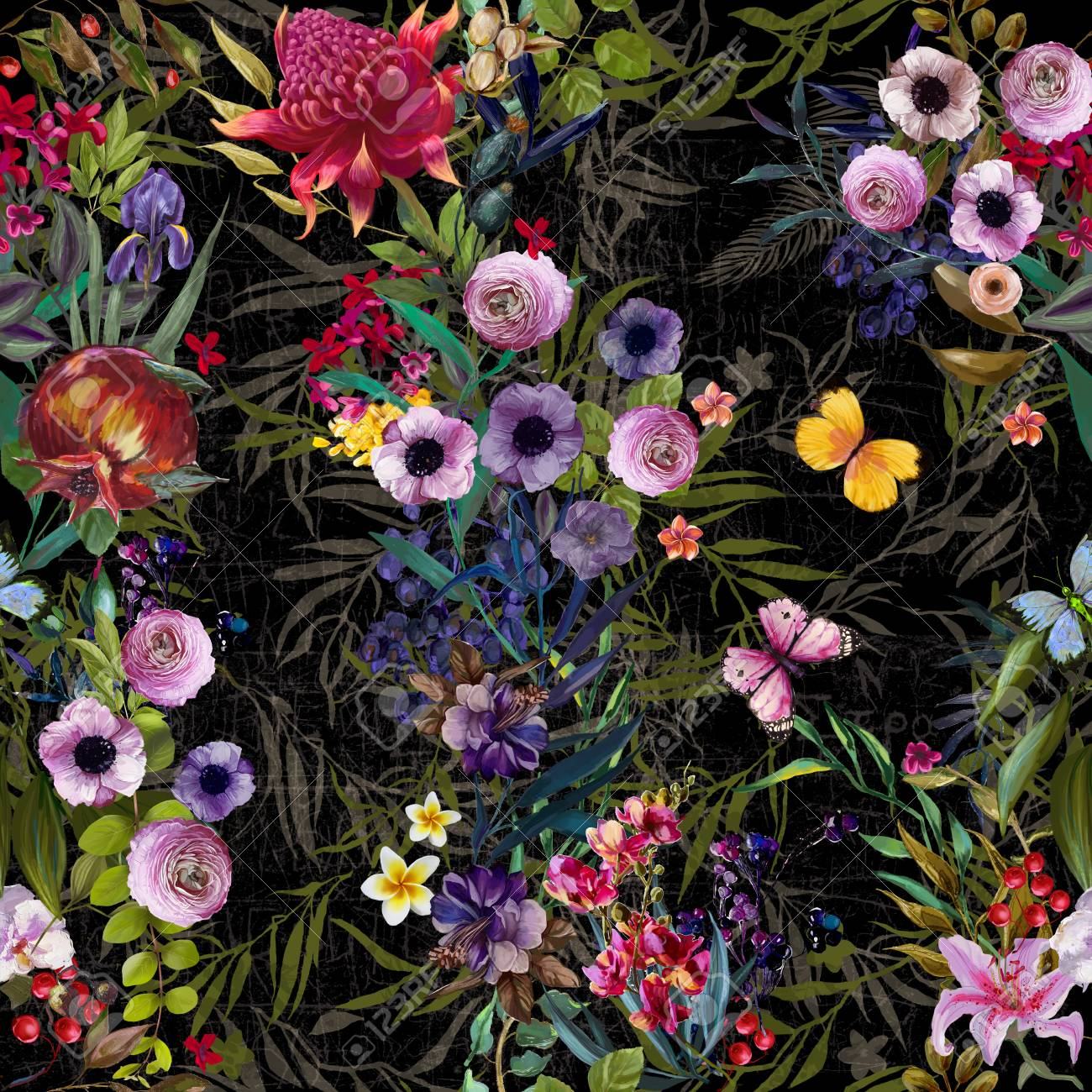 seamless floral pattern - 94005605