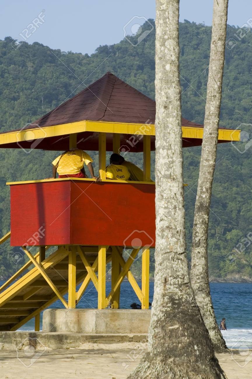 A Lifeguardtower At Mayaro Beach Trinidad