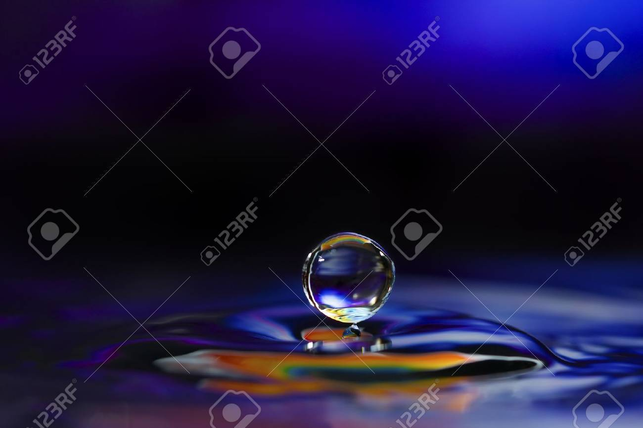 Colorful Water Drop Sculptures. This is one drop of water. Stock Photo - 9091207