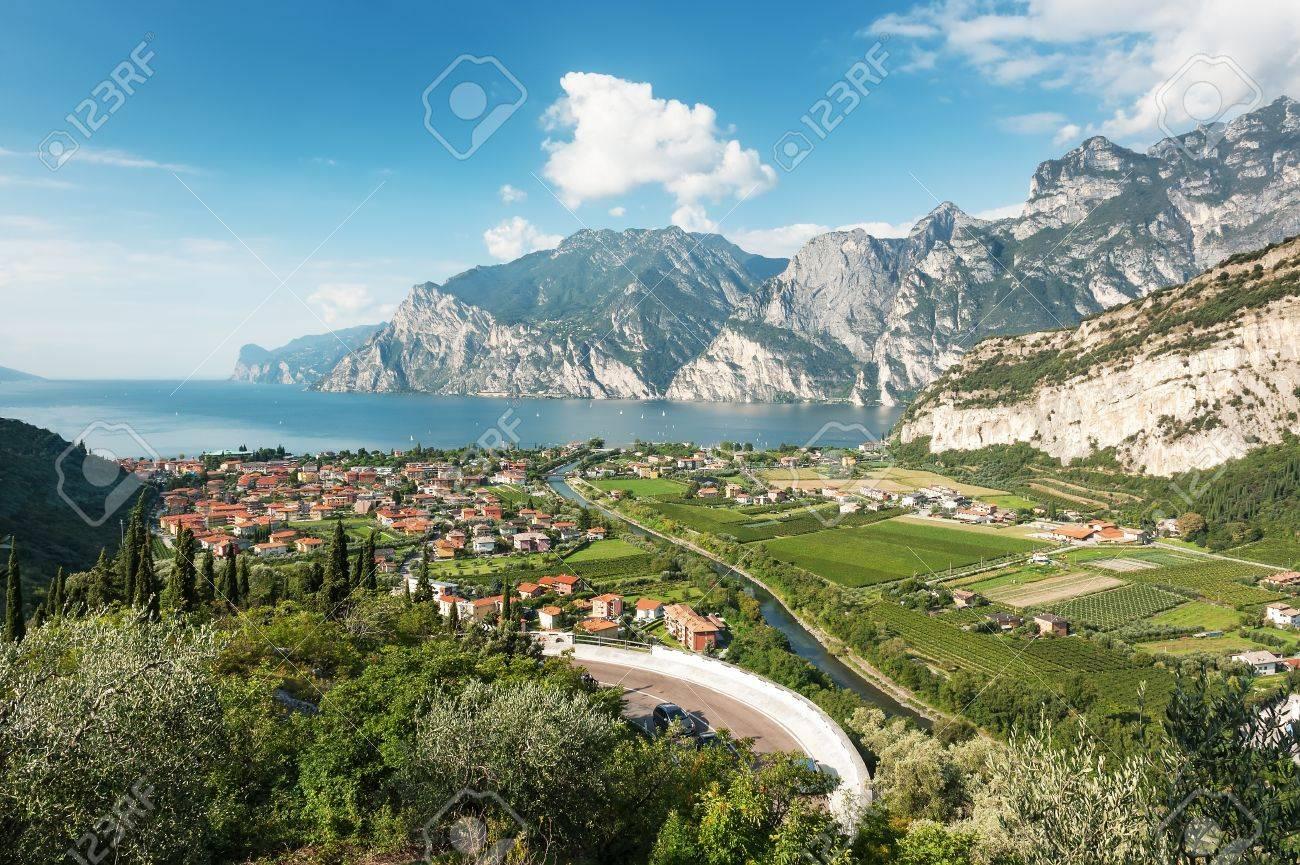Panoramic view for Lake Garda, Italy Stock Photo - 17667413