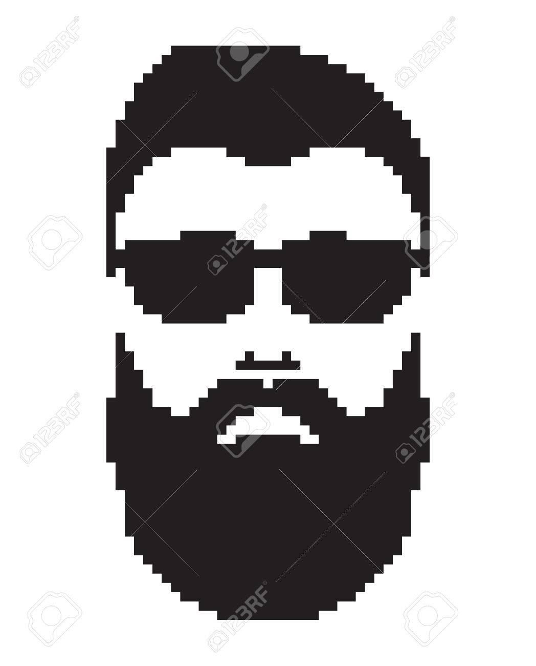 Homme Barbu Avec La Moustache Portrait Barbershop Hommes