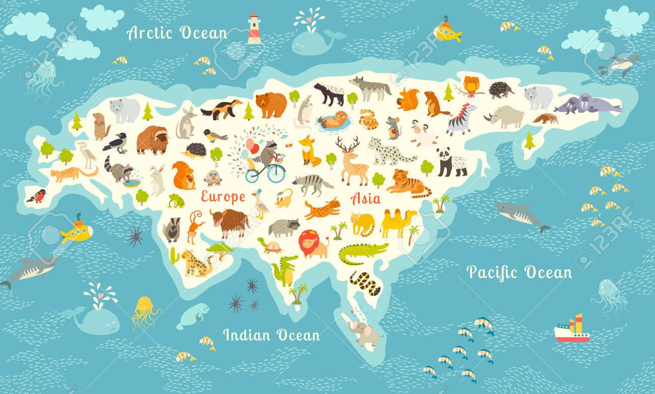 The most detailed animals world map eurasia also birds ocean the most detailed animals world map eurasia also birds ocean life gumiabroncs Image collections