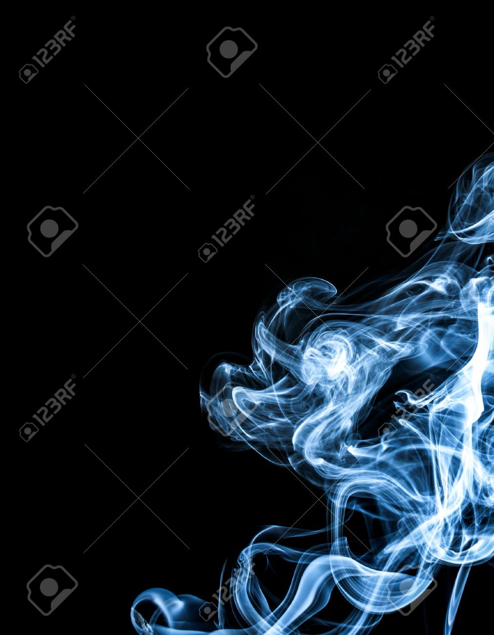 White smoke  on black background Stock Photo - 15417002