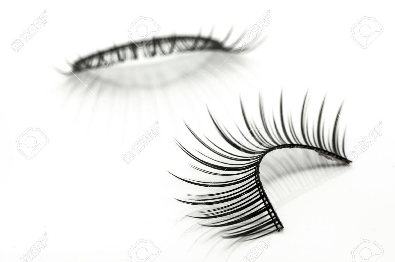 false eyelashes isolated on white Stock Photo - 15796572