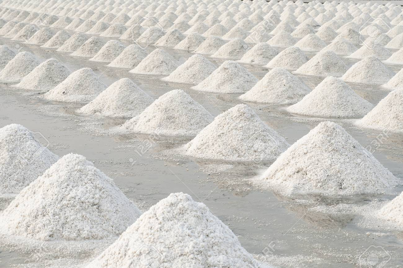 Salt fields in thailand Stock Photo - 19296011