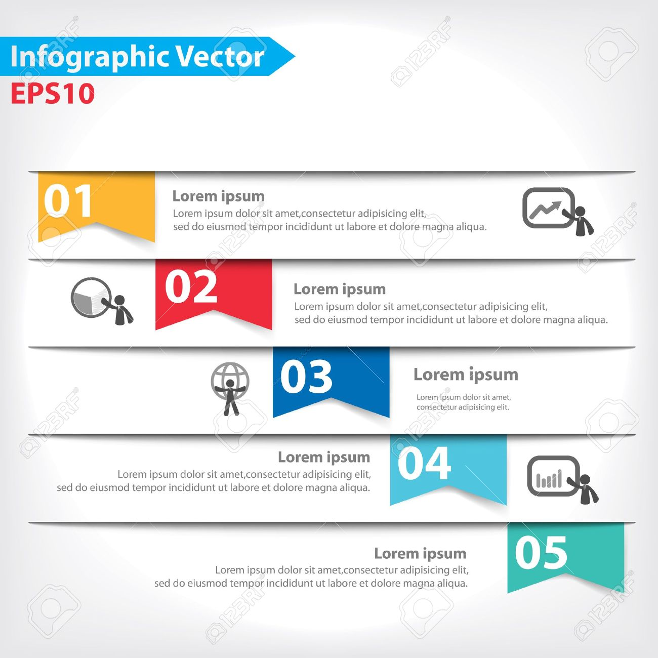 Colorful vector design for workflow layout, diagram, number options, web design, infographics - 21546785