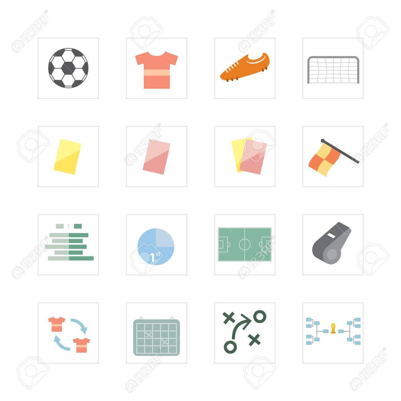 Fußball-Fußball-Icon-Set Wurde Für Illustration, Infografiken, Web ...