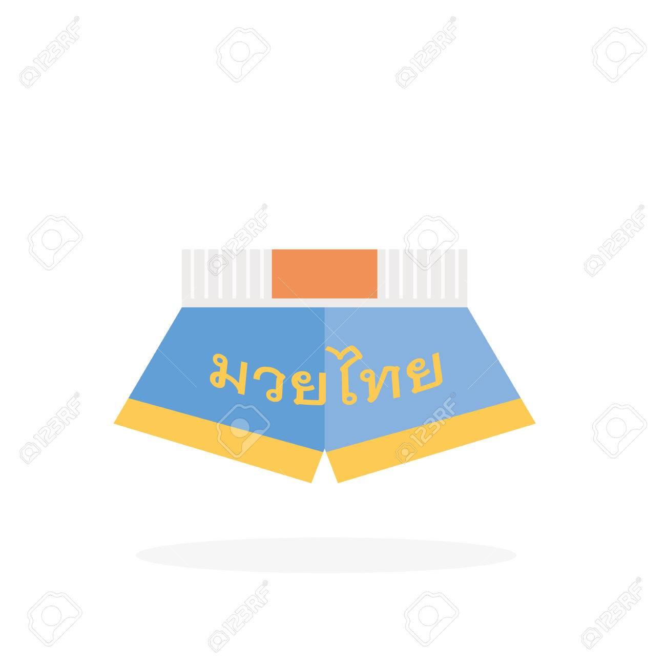Muay Thai Pants Thai Boxing Pants Vector Design Icon