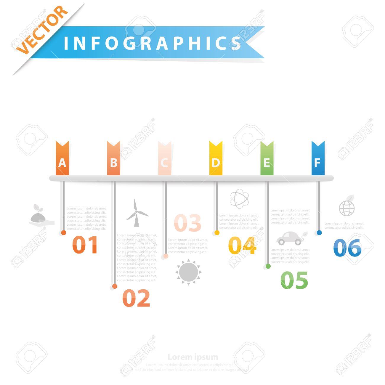 Bunte Vektor-Design Für Workflow-Layout, Diagramm, Anzahl Optionen ...
