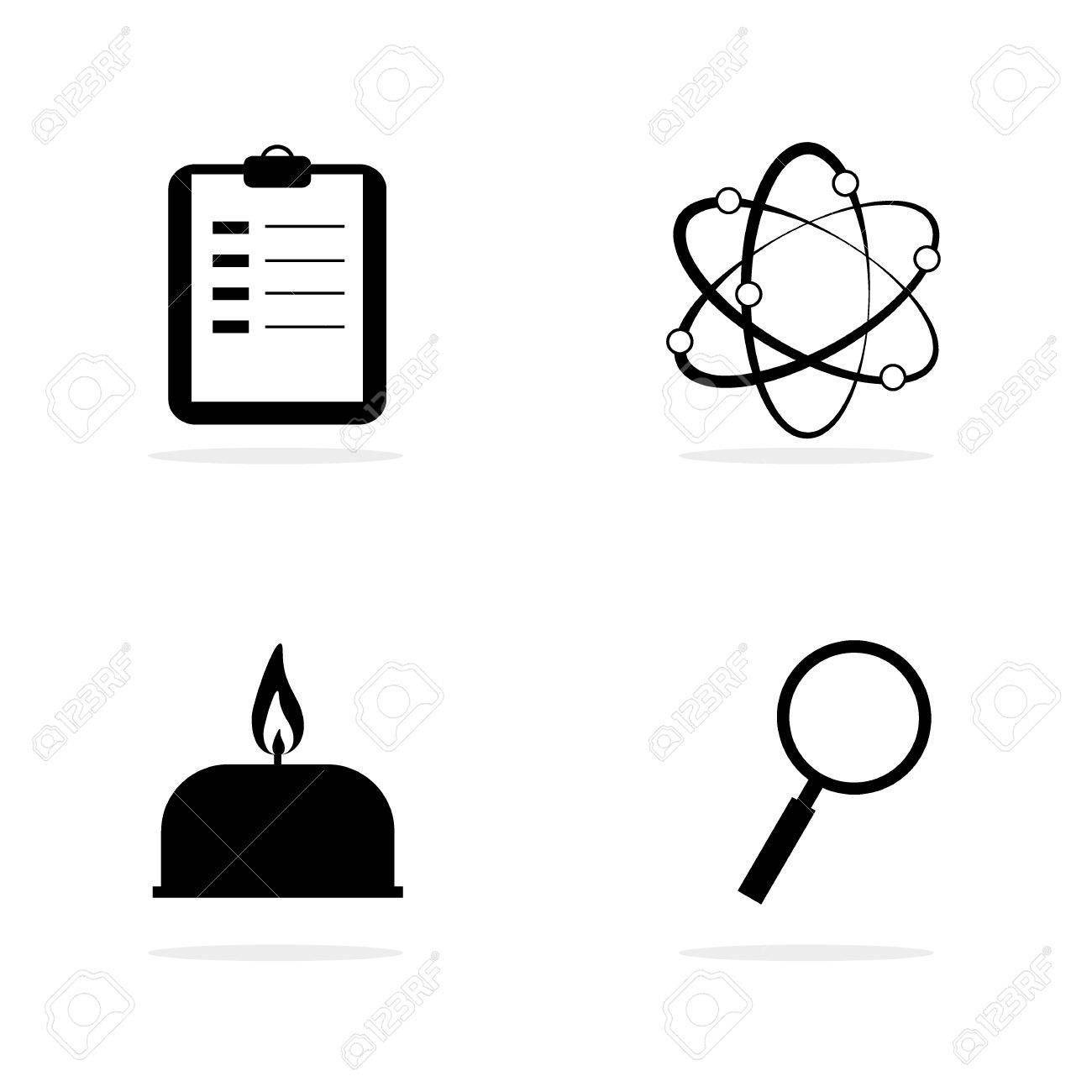 Science Lab Equipment And Symbol Iconvector Design Illustration Stock Vector