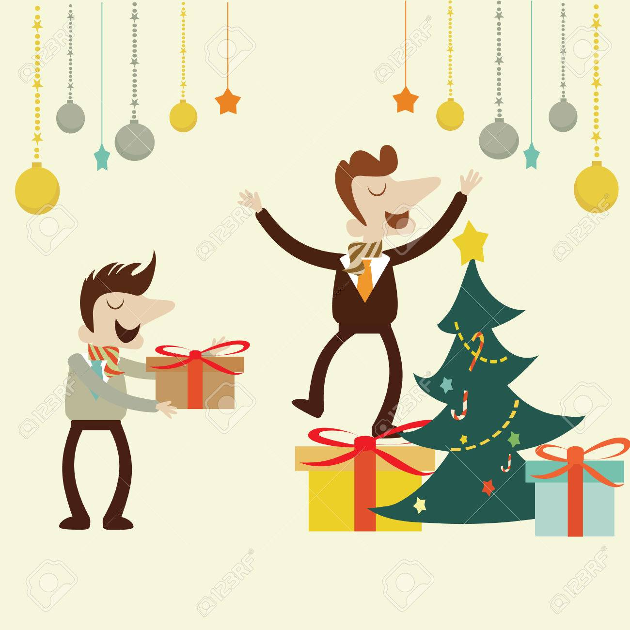 Office Christmas Party.Vector Cartoon Design. Royalty Free Cliparts ...