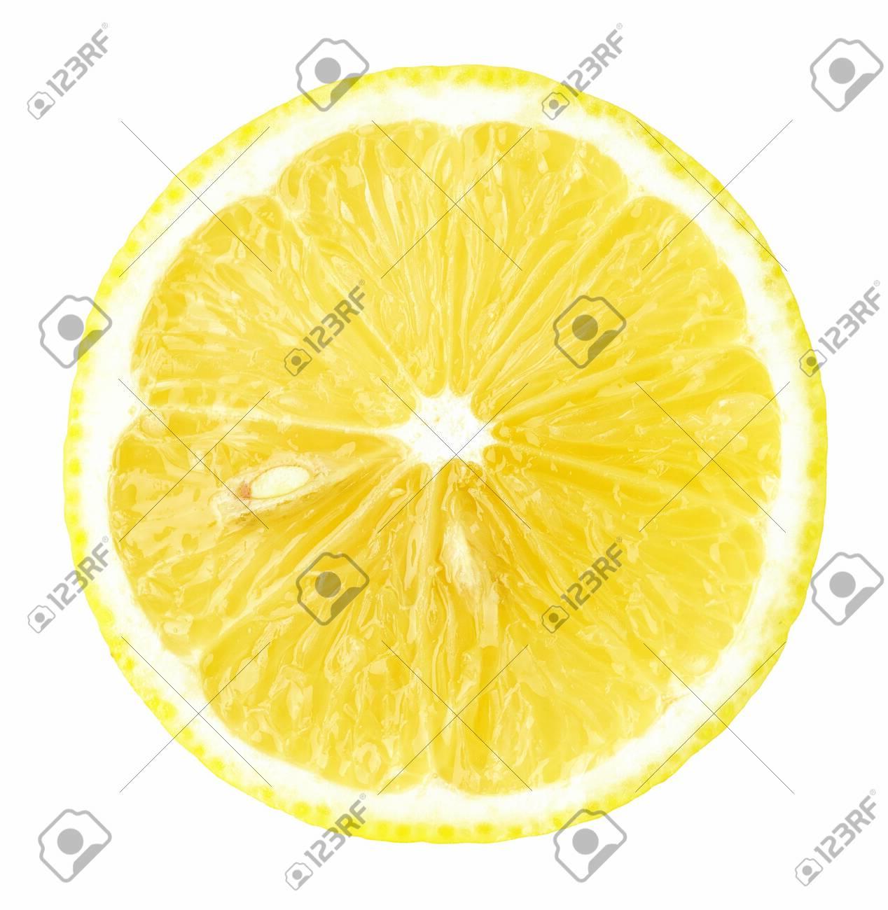 fresh yellow lemon isolated on white - 154784212
