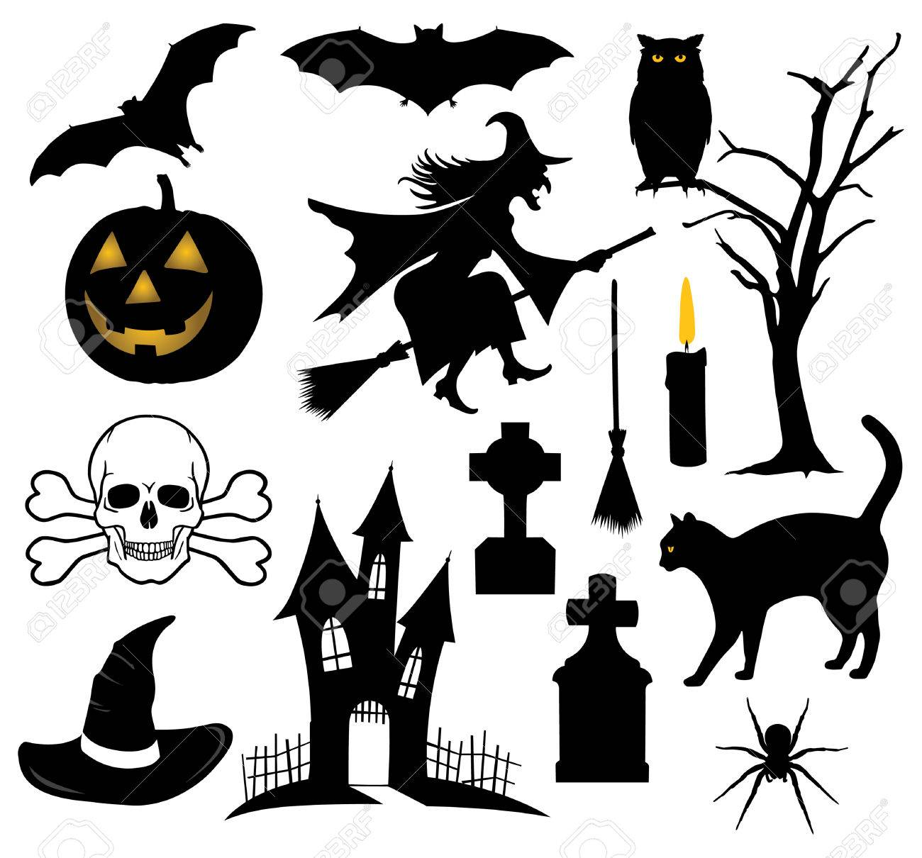 Set Of Halloween Things Royalty Free Cliparts Vectors And Stock Illustration Image 46998281