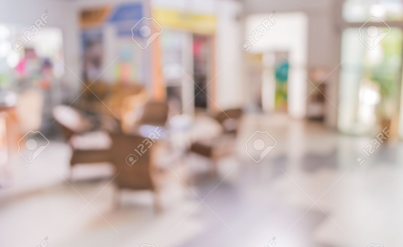 Image Of Blur Living Room With Bokeh For Background Usage Stock Photo