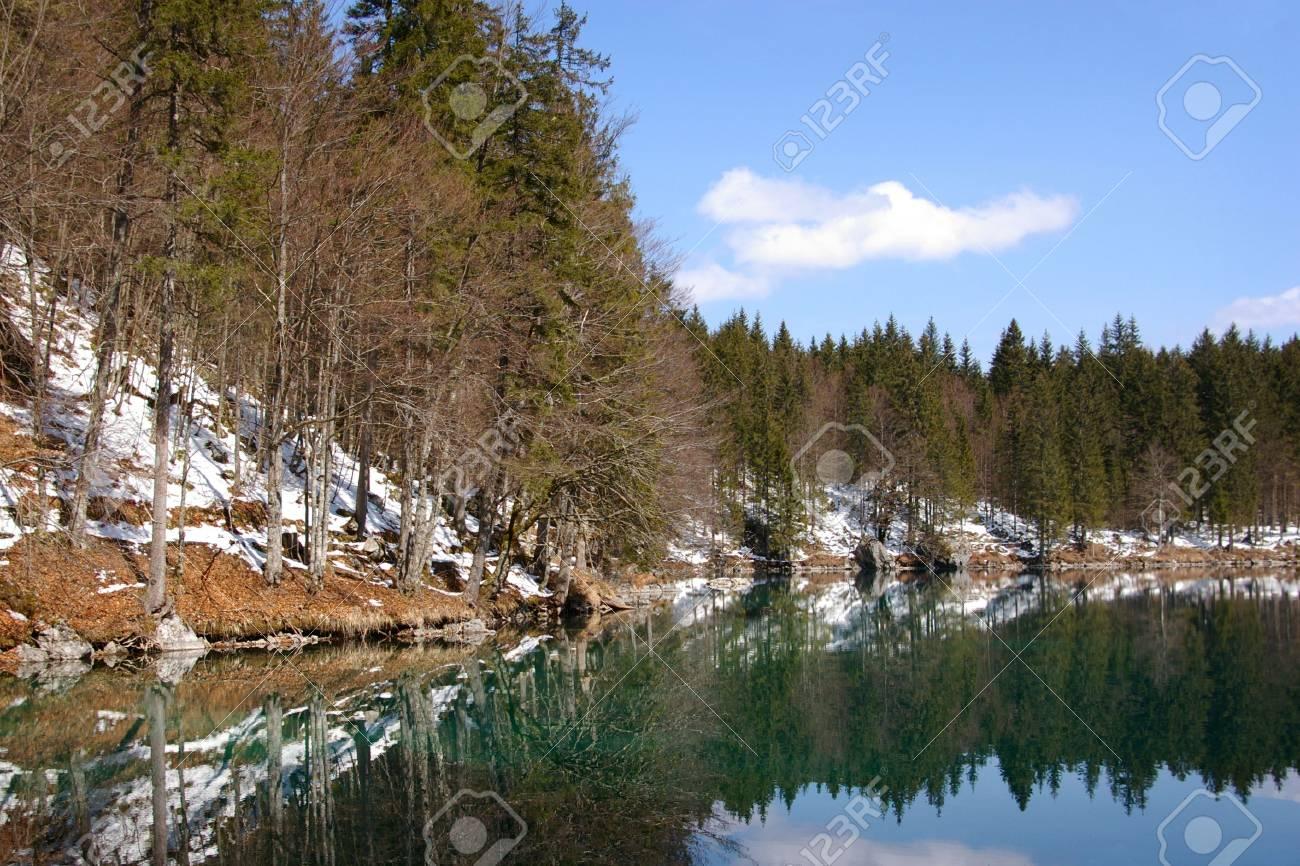 Beautiful lake in the Alps Stock Photo - 2792784