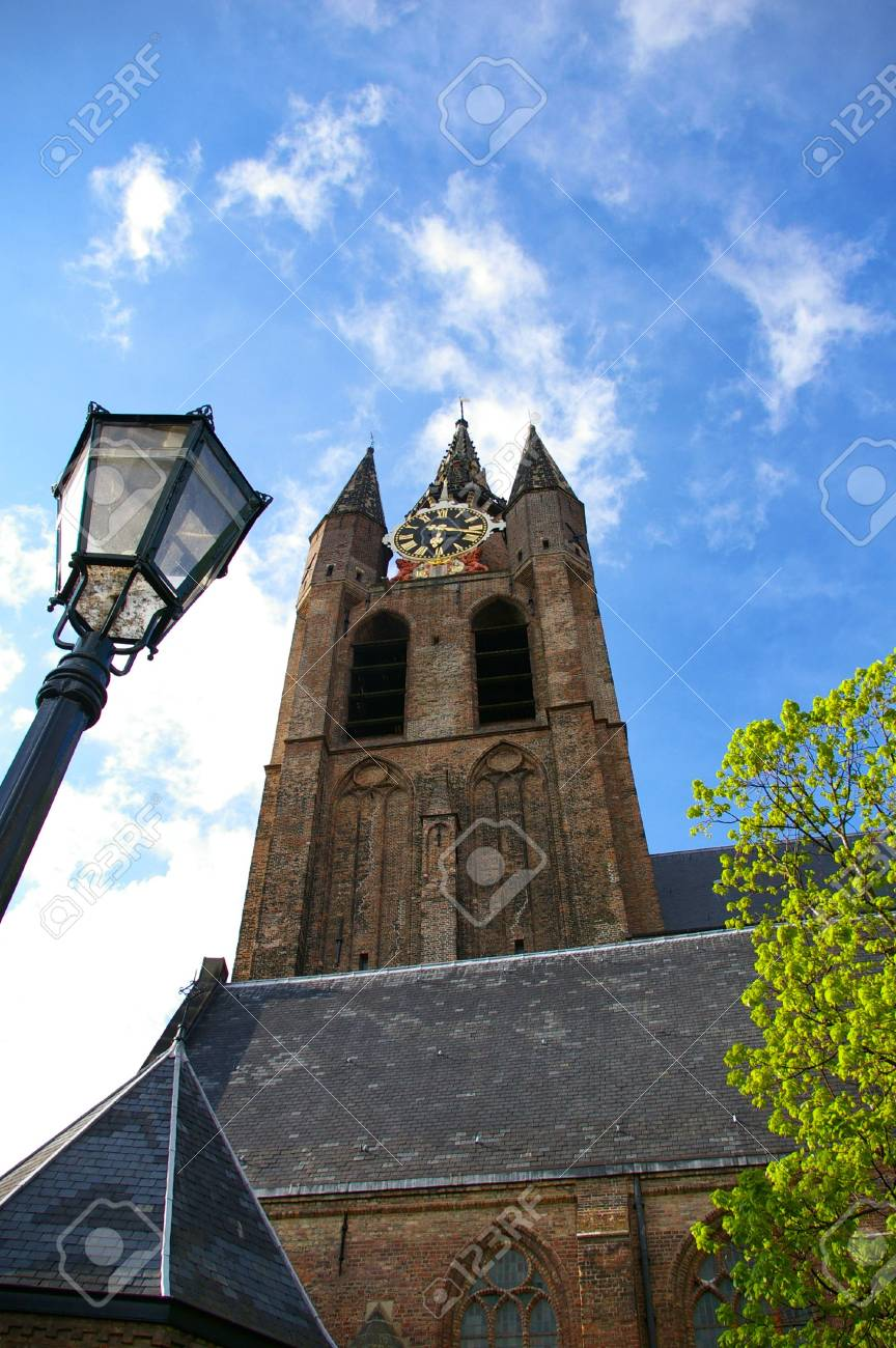 Picture of the Delft church in Holland Stock Photo - 3159973