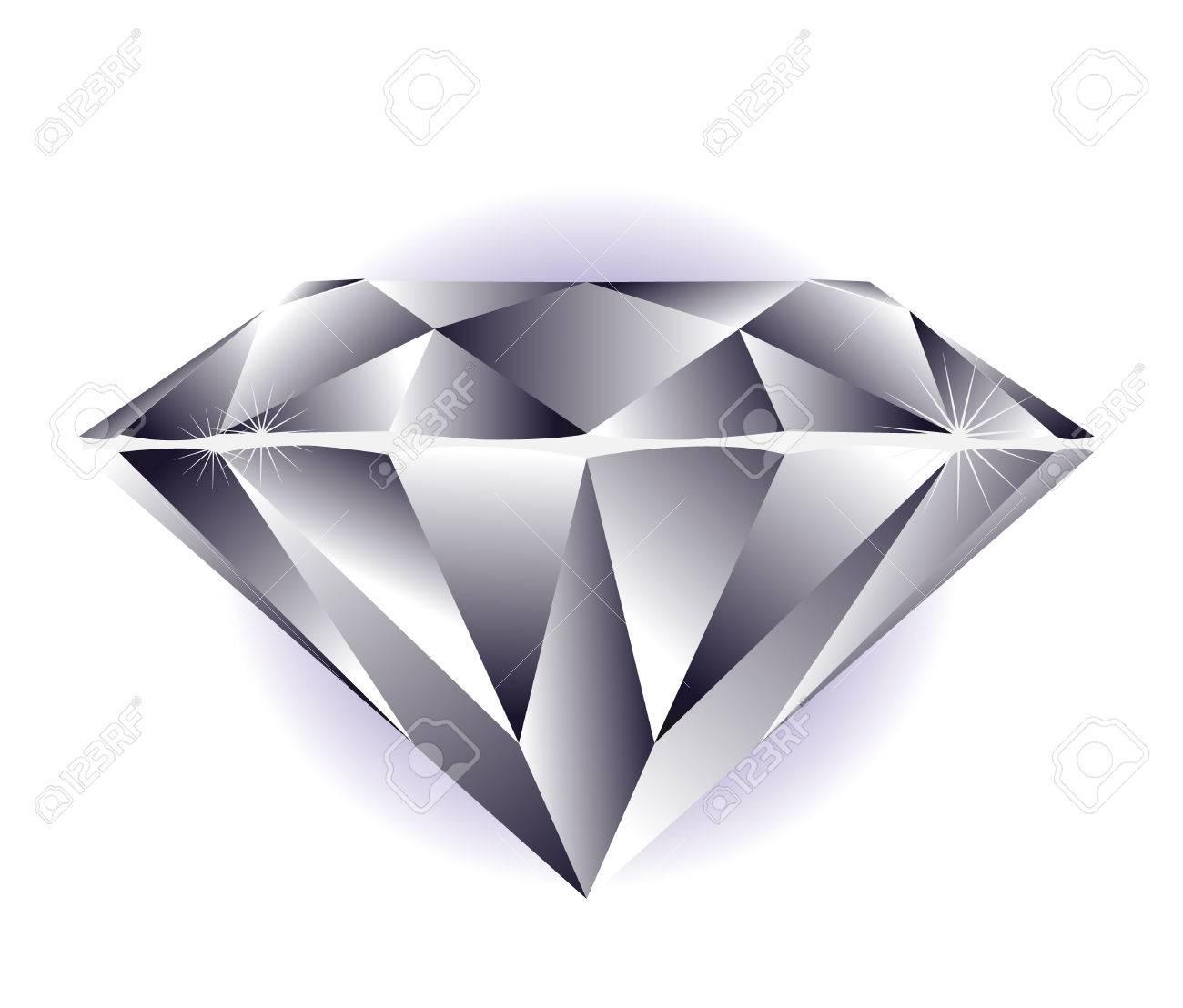 Diamond illustration on a white background. Stock Vector - 3199605
