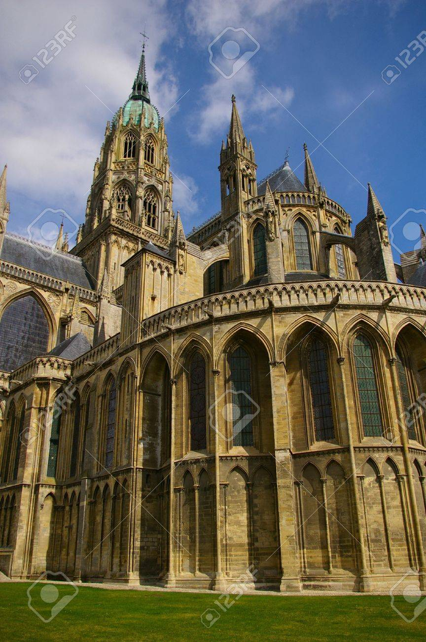 Impressive Bayeux Cathedral, Normandy, France Stock Photo - 6238154