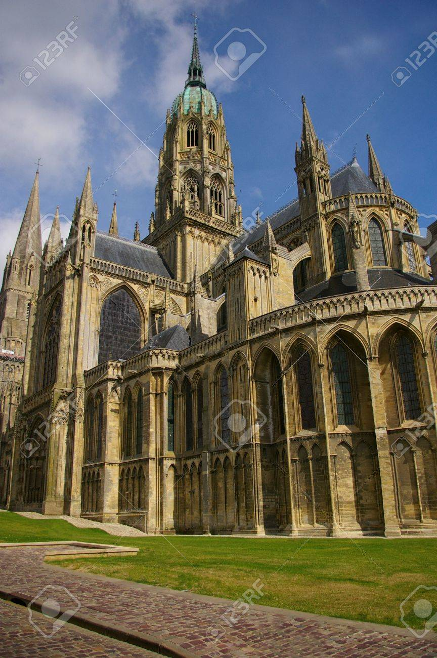 Impressive Bayeux Cathedral, Normandy, France. Stock Photo - 6264670