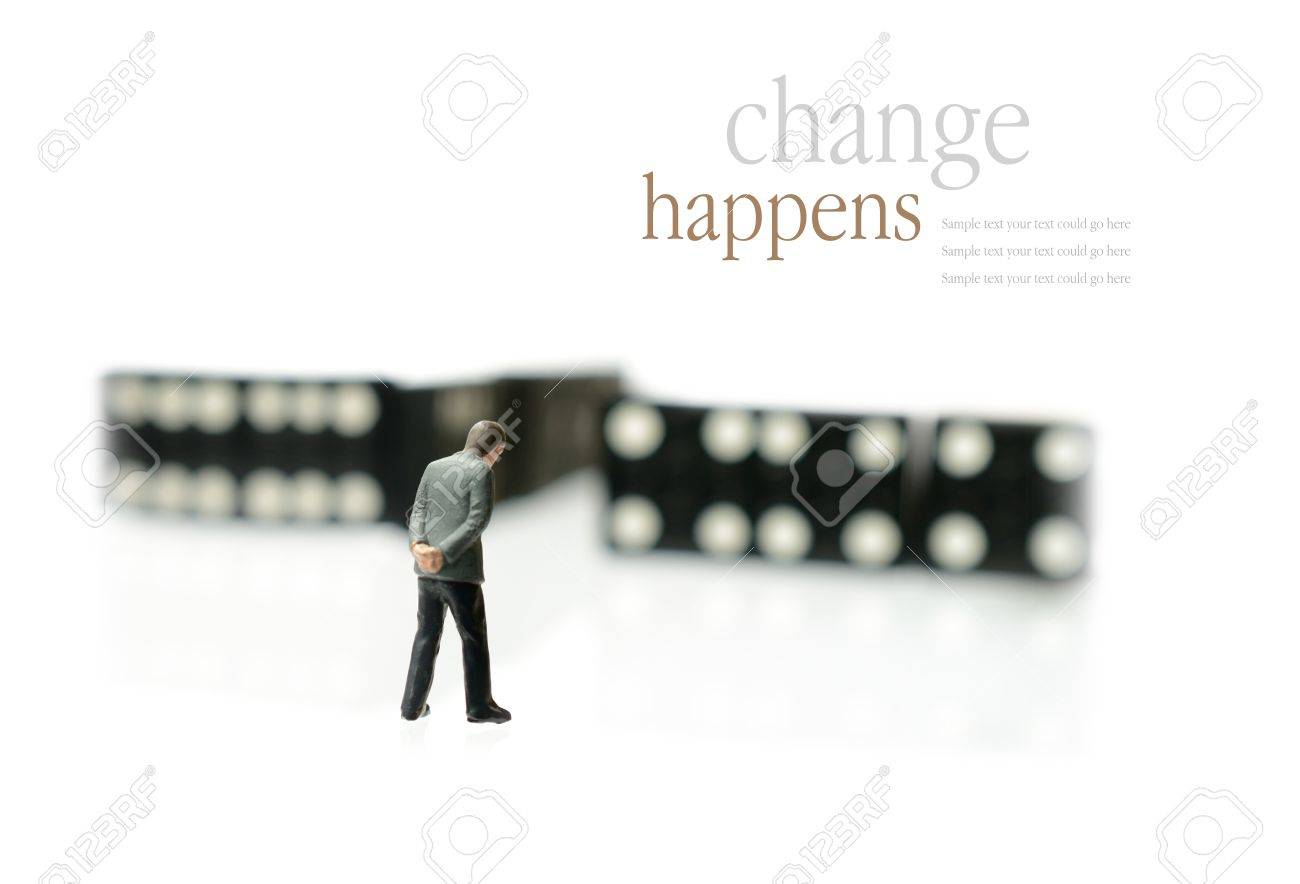 concept image depicting change domino effect i e unemployment concept image depicting change domino effect i e unemployment or retirement copy space stock photo 19533408