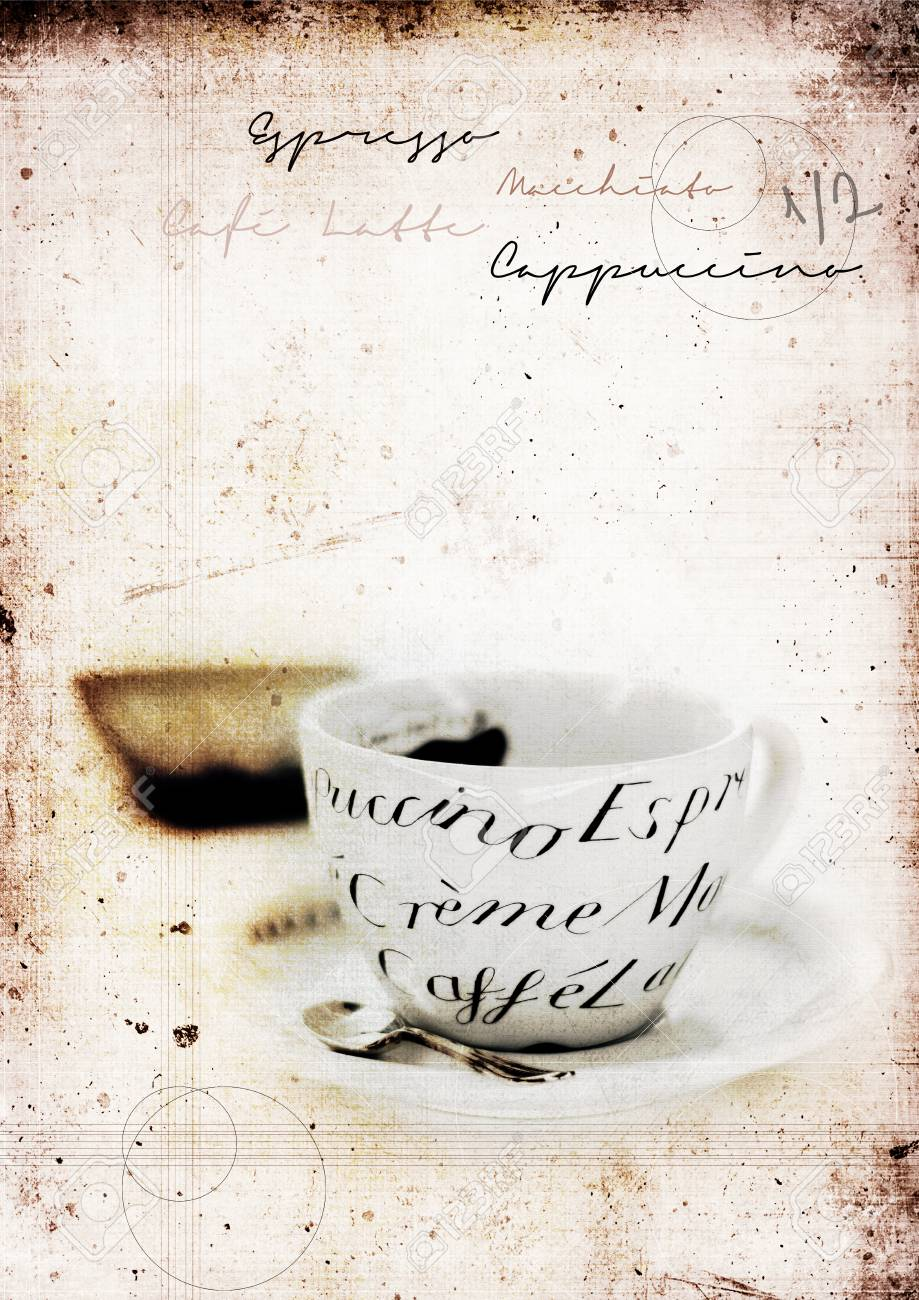 Grunge Graffiti Effect Image Of Classic Italian Coffee Cup And Stock Photo Picture And Royalty Free Image Image 68447446