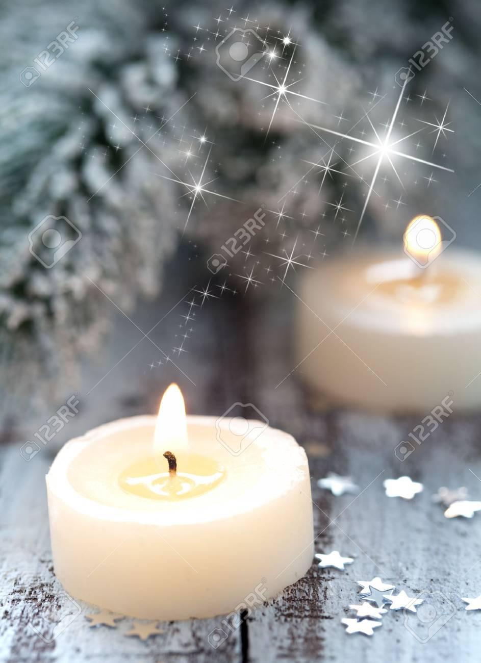 burning candles and decoration Stock Photo - 10121248