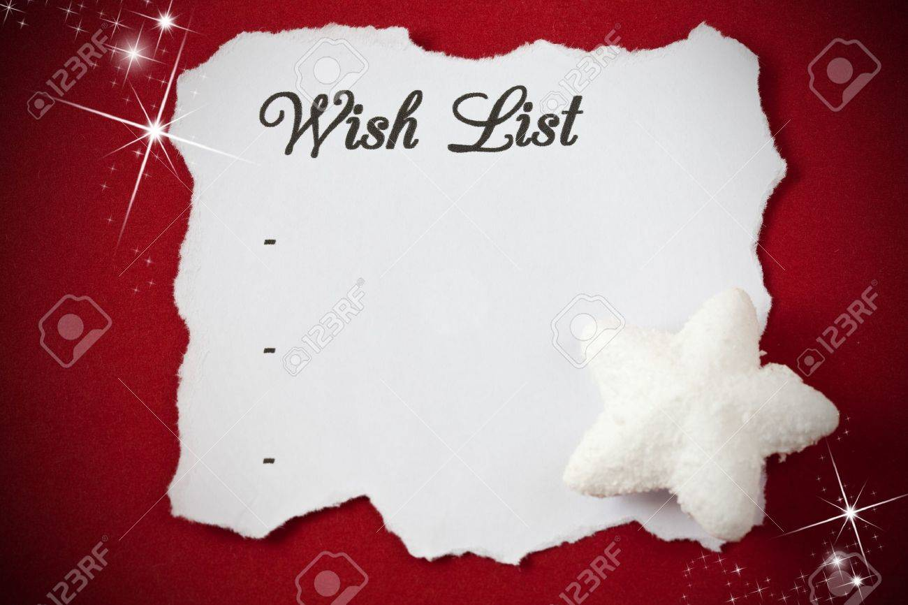 Wish List Photos Pictures 5643 Royalty Free Wish List – Christmas Wish List Paper