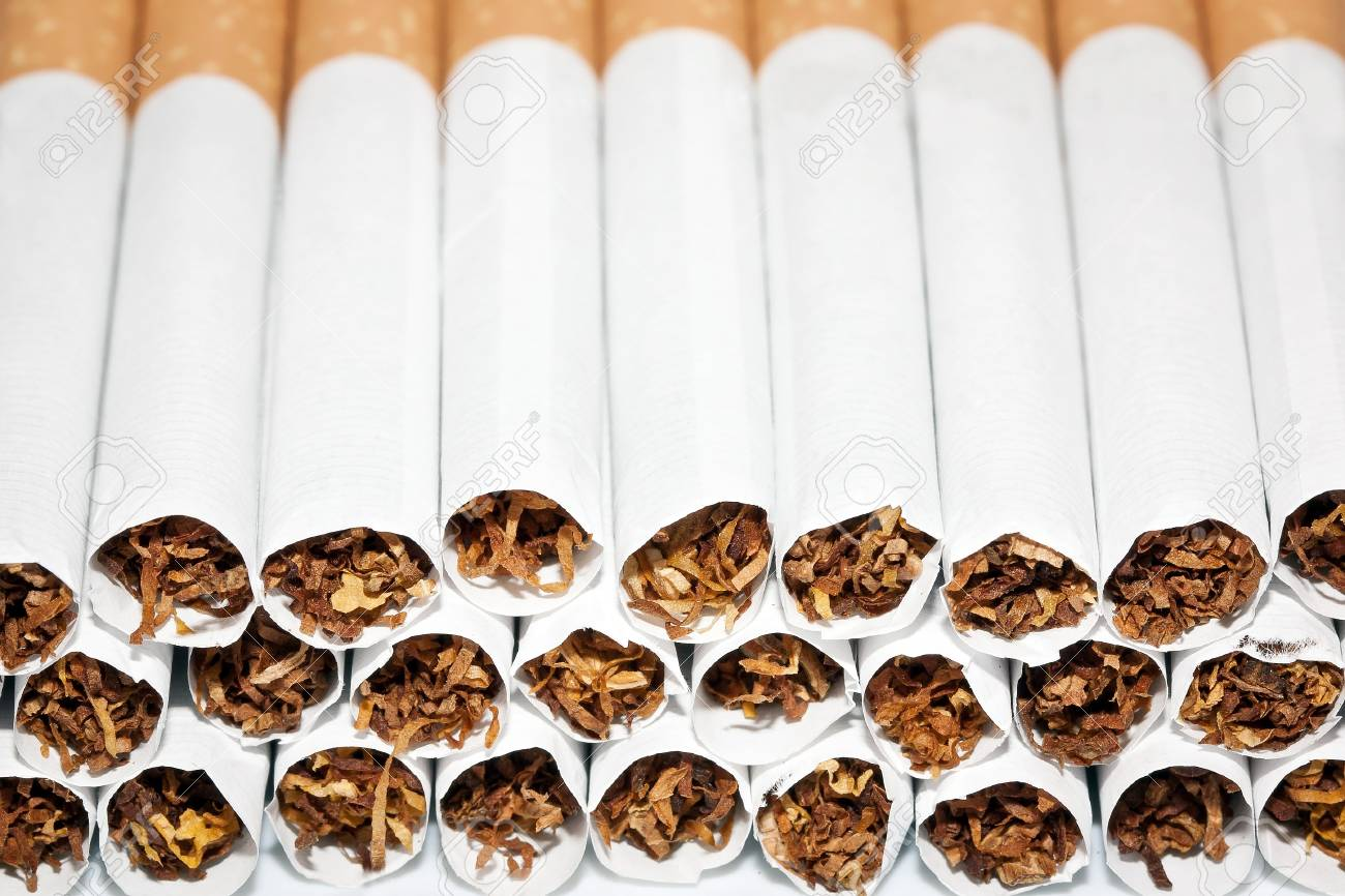 Close up of a smoking cigarettes in a stack Stock Photo - 10028153