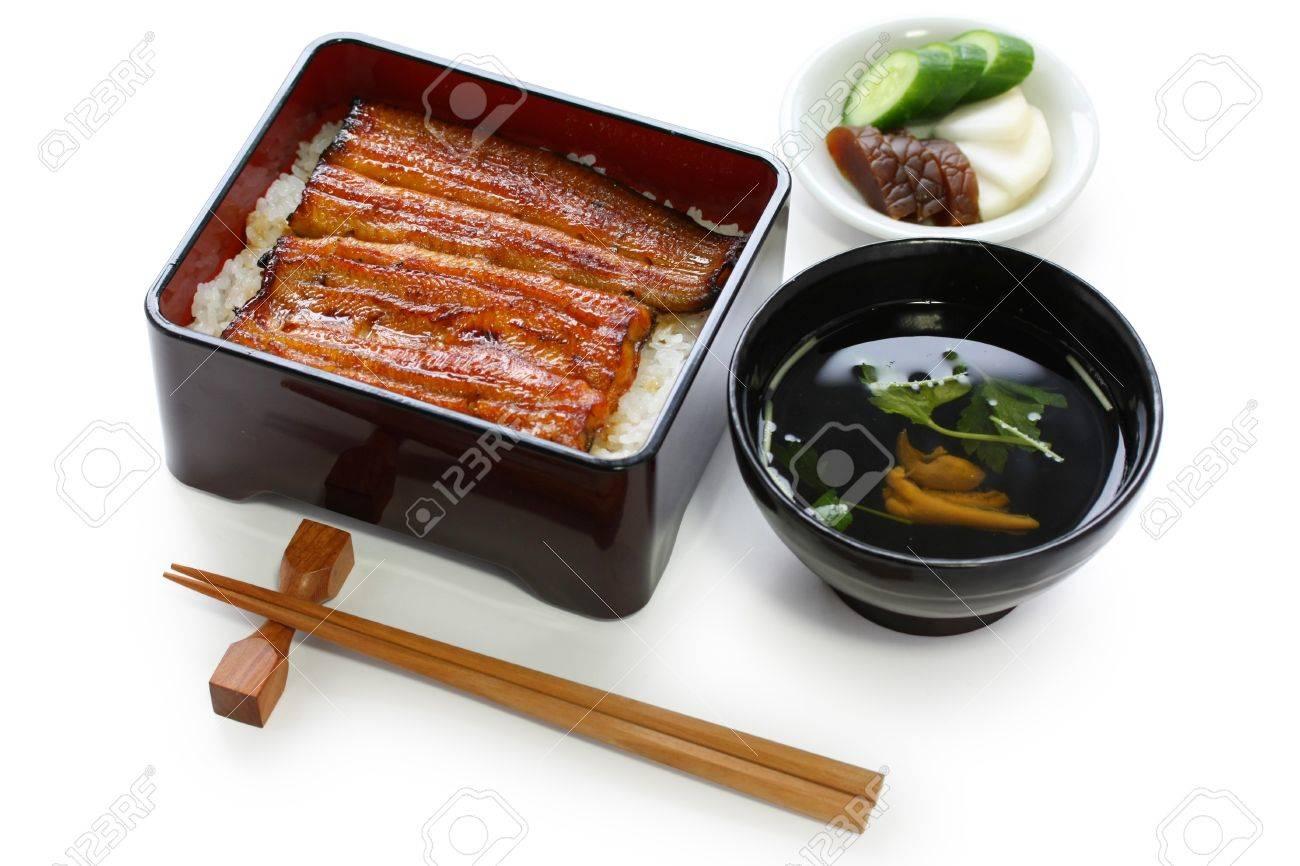 broiled eel on rice,unaju, japanese unagi cuisine - 10939632
