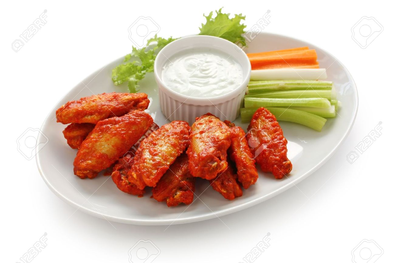 buffalo chicken wings with blue cheese dip Stock Photo - 10943104