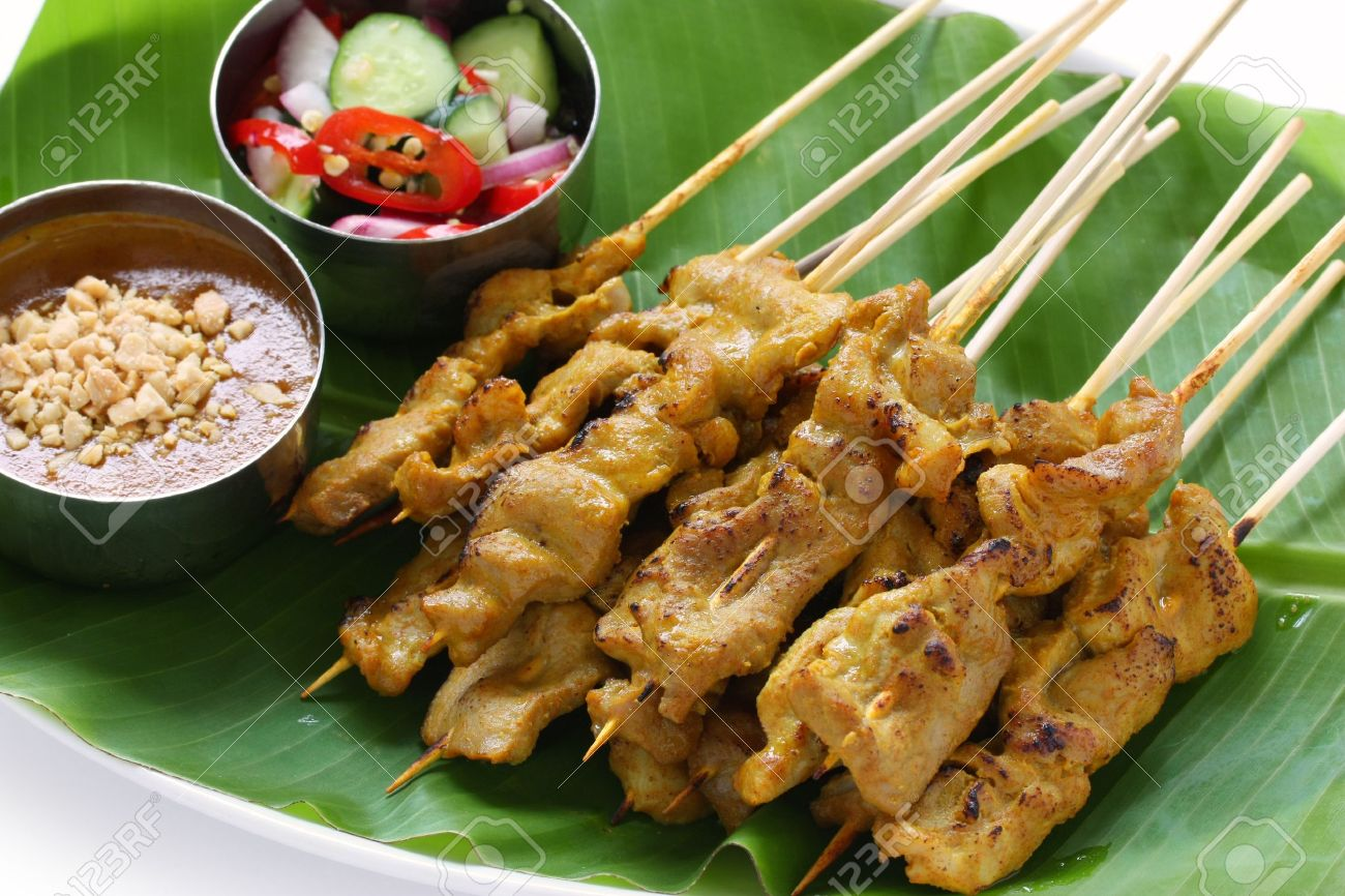beef satay, pork satay, thai cuisine Stock Photo - 11121290