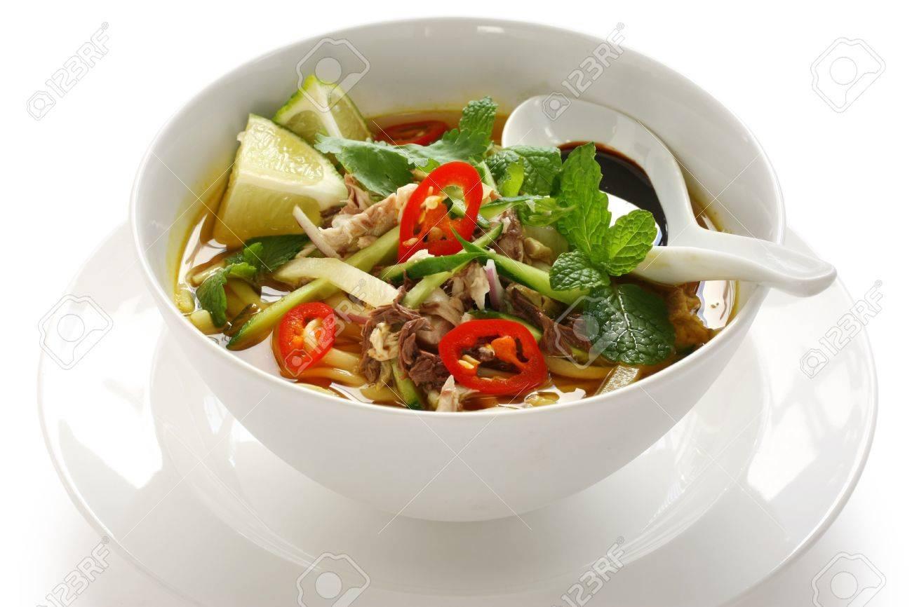 Penang Assam Laksa, Malaysian Food Stock Photo, Picture And