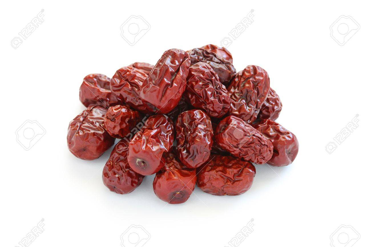 dried jujube fruits,traditional chinese herbal medicine Stock Photo - 11870330