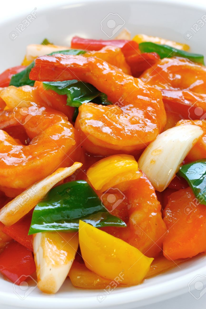sweet and sour shrimp, chinese food Stock Photo - 14513199