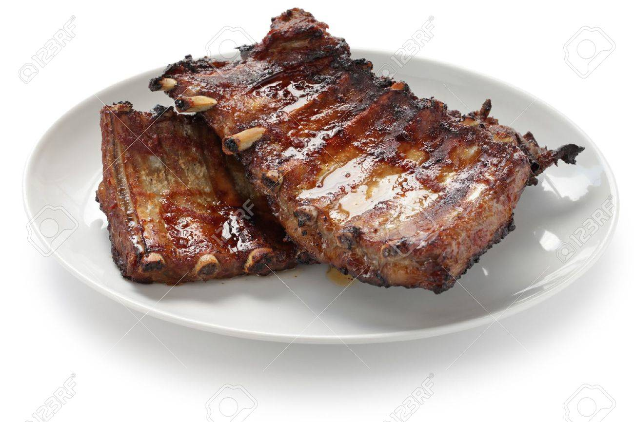 barbecued pork spare ribs Stock Photo - 15760125