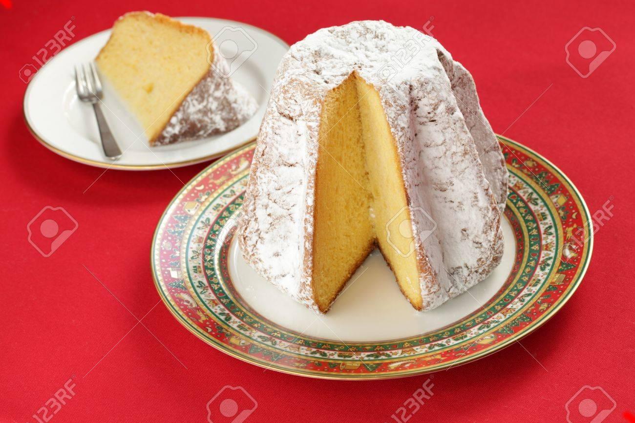 Pandoro Traditional Italian Christmas Cake Stock Photo Picture