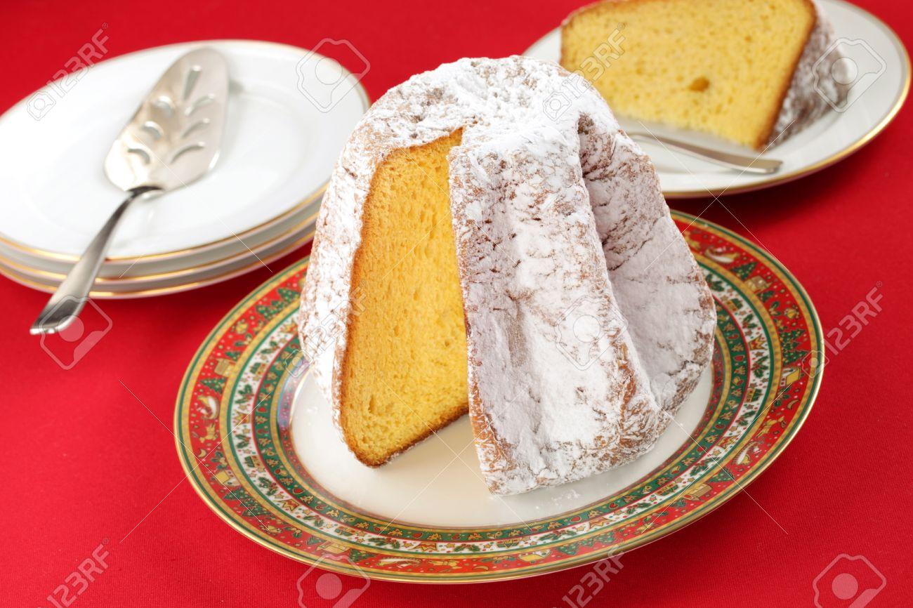Italian Christmas Cake.Pandoro A Traditional Italian Christmas Cake
