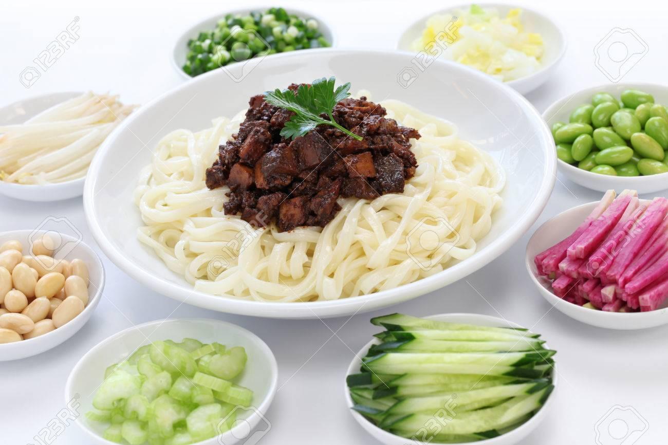 zha jiang mian Beijing style , chinese noodle cuisine - 25823433