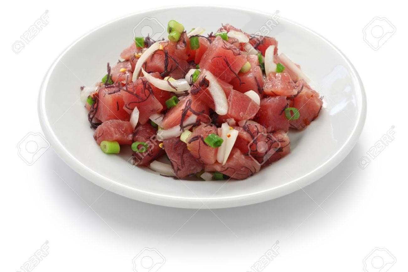 hawaiian raw tuna salad, Ahi poke Stock Photo - 45162690